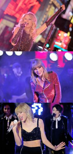 Taylor Swift performing at Dick Clark's New Year's Rockin' Eve ♥ 2008, 2012, 2014