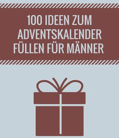 Adventskalender für Männer füllen – die besten Ideen The best suggestions for the advent calendar fill for men. We have researched the most beautiful gift ideas. Here you will find the best ideas.