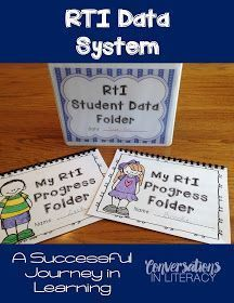 Conversations in Literacy: RTI: A Successful Journey-learn how to document and track student RTI data