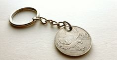 Philippines Coin keychain Eagle jewelry Bird by CoinStories
