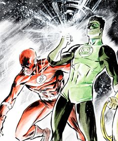 The Flash and Green Lantern by Francis Manapul