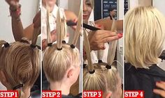 A hairstylist at M&M Friseure Salon in Germany shared the hair-raising technique on social media - and it's gone viral after surprised viewers were left amazed with the result.