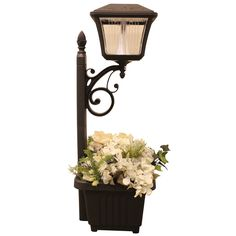 Gama Sonic 4 Light LED Solar Path and Garden Light with Planter