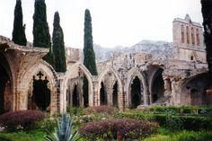 The ancient ruins of Bellapais Abbey. Steeped in history a visit is a must for lovers of Gothic Architecture. The Places Youll Go, Great Places, Beautiful Places, Gothic Architecture, Beautiful Architecture, Ancient Ruins, Ancient History, Cyprus Greece, North Cyprus
