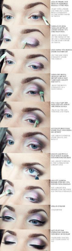 Linda Hallberg eye makeup tutorial (: