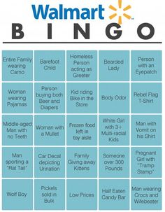 A little game called Walmart Bingo