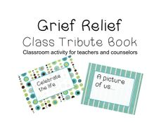 Tribute book for grieving the loss of a student.