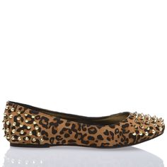 Rose Leopard Print Studded Flats... they're so over-the-top. of course i love them!