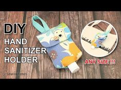 DIY Hand sanitizer Bottle Holder - Any Size ! // How to make a Portable Pouch Bag Easy Tutorial [sewingtimes] It is easy to make and practical. Sewing Tutorials, Sewing Projects, Bag Tutorials, Beginners Sewing, Diy Projects, Bag Patterns To Sew, Sewing Patterns, Hand Sanitizer Holder, Sewing To Sell