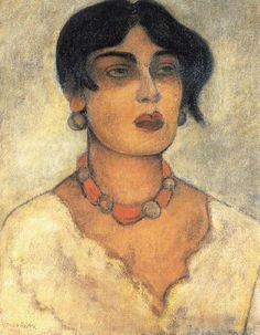 Portrait of a girl, Diego Rivera