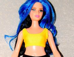 Sports Bra made for Curvy Barbie Fashionista Doll Clothes by TKCT turquoise top