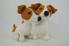 Amigurumi Jack Russell Pattern : Amidogs jack russell terrier amigurumi crochet pattern russell