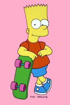 The Simpsons│ Los Simpson - - - - - - Simpsons Drawings, Simpsons Cartoon, Simpsons Characters, Arte Monster High, Famous Cartoons, Skateboard Design, American Dad, Homer Simpson, Cute Wallpapers