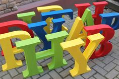 Colorful BIG letters made by www. Big Letters, Holiday Parties, Colorful, Holidays, Logos, Party, Holidays Events, Holiday, Logo