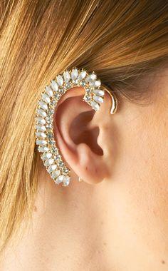Crystal ear cuffs