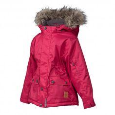 Snow jacket, persian red Herringbone, Minymo