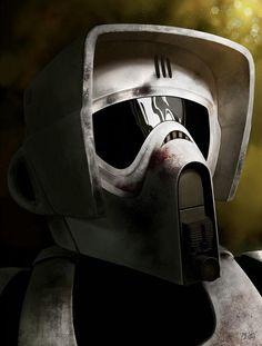 Scout Trooper fan art by Alberto Chuqui