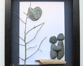 Unique COUPLE'S Gift- Personalized Engagement Gift -  Wedding Gift - Pebble Art - Love Gifts