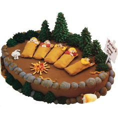 I remember wanting this cake as a kid.  My daughter is obsessed with camping...