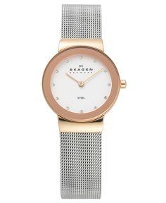 Skagen Watch, Women's Stainless Steel Mesh Bracelet 358SRSC - Women's Watches - Jewelry & Watches - Macy's