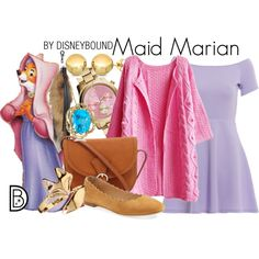 Although not necessarily appropriate for the time period, this image gives ideas on how to piece together Marian's outfit. It also shows some jewelry ideas, which is unique to this image.