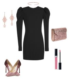 """""""Rose gold accents"""" by rdub5 on Polyvore featuring Yves Saint Laurent, Jimmy Choo, Anne Sisteron and Christian Dior"""