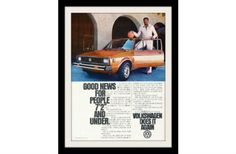 """An original 1979  advertisement for VW Volkswagen Rabbit car. Featuring Wilt Chamberlain, basketball player. In his retro outfit and basketball n hand, he is proud to say he owns one.  -A vintage 1979 Volkswagen Rabbit Diesel advertisement -Measures: 8"""" x 11"""", original size -Does not include frame and mat  This print was carefully removed from the magazine and is in very good condition. Page is crisp and bright. Original from the magazine and not a copy! Ready for matting and framing.  FREE…"""