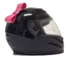 The Pink Motorcycle helmet bow is a great new accessory which works on just about any helmet! While it's really popular among bikers we've seen this helmet bow on bicycle helmets, Ski helmets and even motocross helmets. All you have to do is peel the sticker, stick it on and you're ready to ride!