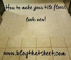 How to make your tile floors look new! #diy #momblog #tilefloors #groutrenew #polyblend #polyblendgroutrenew