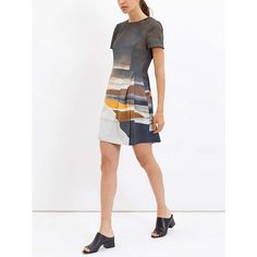 BuyJaeger Daisy Cook Print Dress, Grey, 6 Online at johnlewis.com