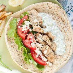 Chicken Gyros with Tzatziki Sauce--perfect for a quick summer meal. #foodgawker