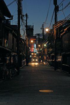 night view, Gion Shirakawa, Kyoto