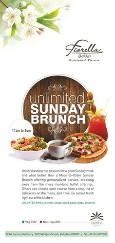 There is no better way to start lazy Sunday than late #brunch! #Fiorella #Vadodara