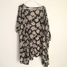 Brandy Melville cardigan Perfect condition, Black and white floral Brandy Melville Sweaters Cardigans
