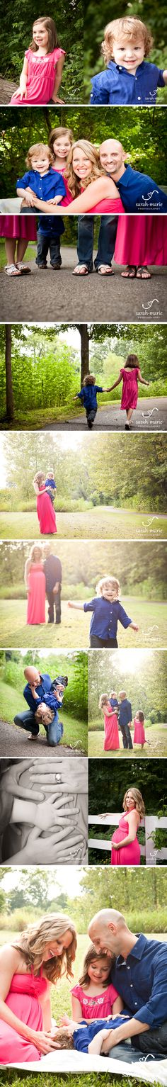Family maternity session outside