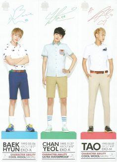 Twitter / SMTownFamily: {PROMO} 140329 Exo's Merchandise for Ivy Club: Baekhyun, Chanyeol, Tao