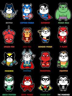 Super Panda Stickers by pnutink on DeviantArt