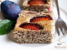 Poppy Seed Plum Cake - World Gluttony Baking Recipes, Cake Recipes, Dessert Recipes, Plum Cake, Classic Cake, No Cook Desserts, Healthy Baking, No Bake Cake, How To Make Cake