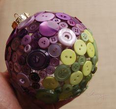 Bolas de adorno de Navidad con botones  para decorar el árbol