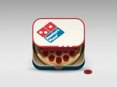 Dominos Pizza Mobile App Icon by Julian Burford. #icon #design #mobile #app #inspiration
