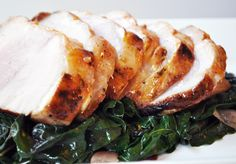 Orange-Cumin Brined Pork Loin with Sauteed Greens by Logan Niles for Eleanor's Catering