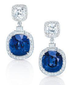Cellini Jewelers | Sapphire and Diamond Earrings
