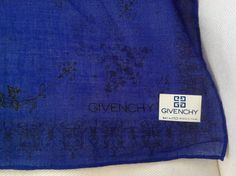 Vintage Givenchy scarf / 18 inch square, cotton scarf / 1960s designer scarf bandana by PureJoyVintage on Etsy