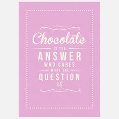 eu.Fab.com   Kunstdruck Chocolate Answer