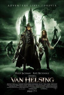 """""""Van Helsing"""" (2004). The notorious monster hunter is sent to Transylvania to stop Count Dracula who is using Dr. Frankenstein's research and a werewolf for some sinister purpose. Hugh Jackman, Kate Beckinsale and Richard Roxburgh."""