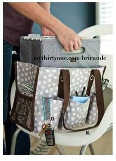"""Thirty One - Fold n File (10""""H x 12.25""""W x 6.5""""D) fits inside Organizing Utility Tote. Both make the perfect set for your favorite teacher, realtor, woman on the go!  www.mythirtyone.com/shopkristi"""