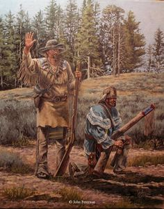 Painting John Peterson | ... man art - Western, Native American & Mountain Man Art by John Peterson