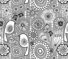 Color Me Floral fabric by dianef on Spoonflower - custom fabric
