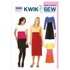 Mccall Pattern K3633 Xs-S-M-L-X-Kwik Sew Pattern