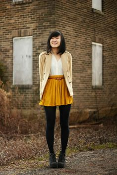 Remix: Ways to Wear a Mustard Skirt | #ootd #outfit